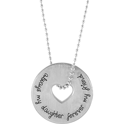 Stainless Steel Personalized Engravable Mother Daughter Friendship Pendant