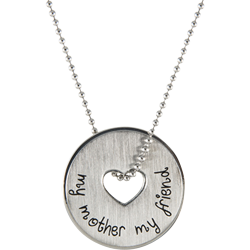 Stainless Steel Mother Pendant Engravable