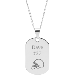 Stainless Steel Personalized Engraved Football Helmet Sports Pendant with Chain